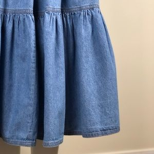 Vintage Skirts - Vintage Tiered Chambray Denim Skirt
